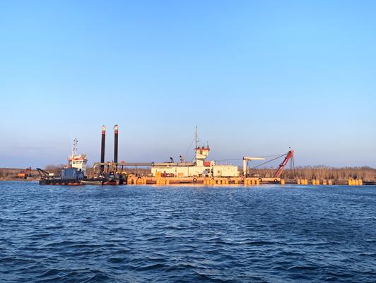 "FSUE ""Rosmorport"" begins dredging on the Volga-Caspian Sea Shipping Channel"