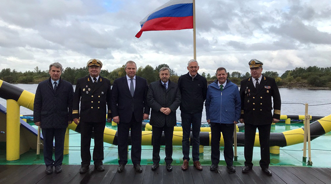 Representatives of Russia's Navigation Chamber and International Chamber of Navigation visit the Murmansk icebreaker