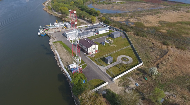 Reconstructed base of aids to navigation in the seaport of Kaliningrad, Rybachiy Settlement, put into operation